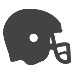 Icono plano de casco de fútbol americano