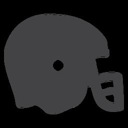 Icono plano del casco de fútbol americano