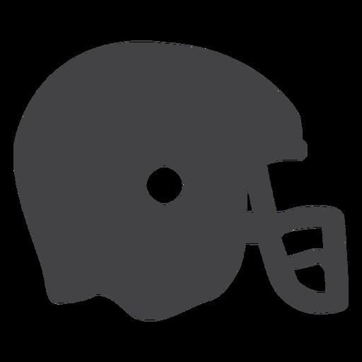 Ícone plana de capacete de futebol americano Transparent PNG