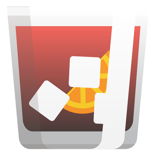Americano cocktail icon Transparent PNG