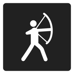Archery square icon archer
