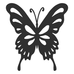 Artistic butterfly silhouette