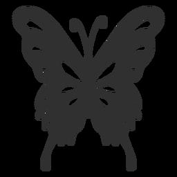 Silhueta de borboleta artística