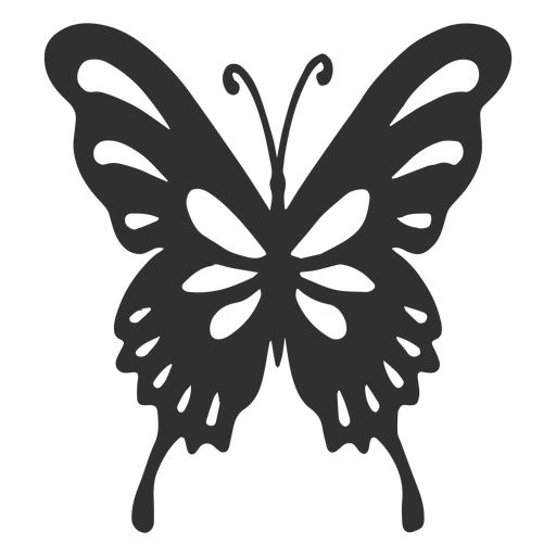 Artistic butterfly silhouette Transparent PNG