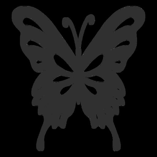 Silhueta de borboleta artística Transparent PNG