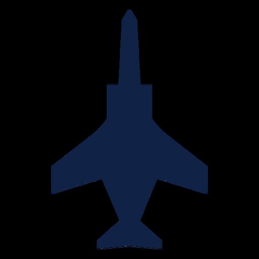 Silhueta de vista superior do avião de ataque Transparent PNG