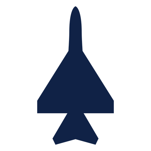 Attack plane top view silhouette Transparent PNG