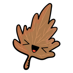 Herbstbaumblatt-Karikaturikone