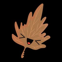 Ícone dos desenhos animados de folha de árvore outono