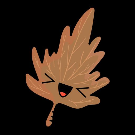 Icono de dibujos animados de hojas de árbol otoñal Transparent PNG