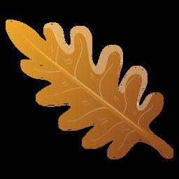 Ilustração de folha de árvore outono