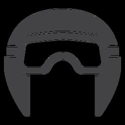 Casco de aviador plano icono