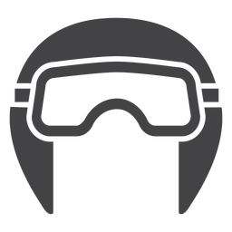 Icono plano de casco de aviador