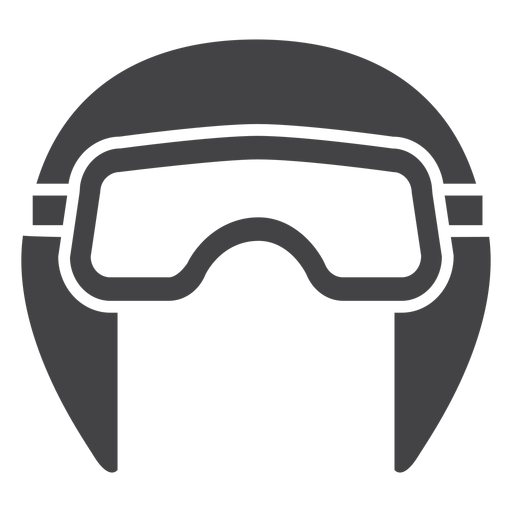 Aviador capacete ícone plana Transparent PNG