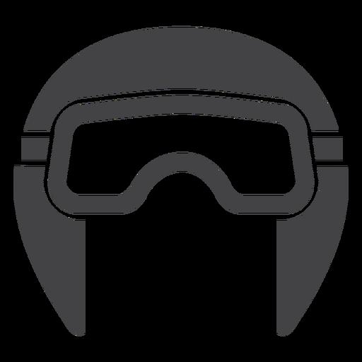 Aviator helmet flat icon