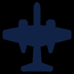 B 57 Flugzeug Draufsicht Silhouette