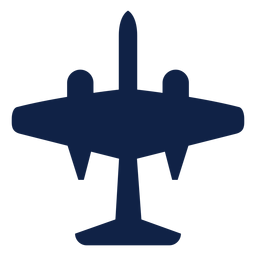 Silueta de vista superior de avión B 57