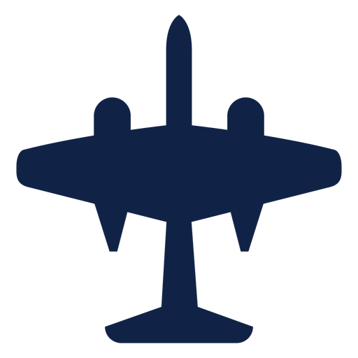 B 57 airplane top view silhouette Transparent PNG