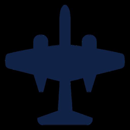 Silhueta da vista superior do avião B 57 Transparent PNG