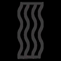 Bacon ícone de comida de acidente vascular cerebral