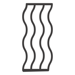 Icono de comida de trazo de tocino