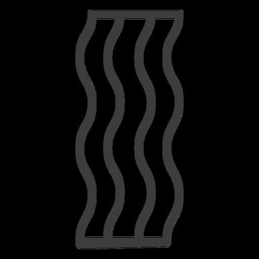 Icono de comida de trazo de tocino Transparent PNG