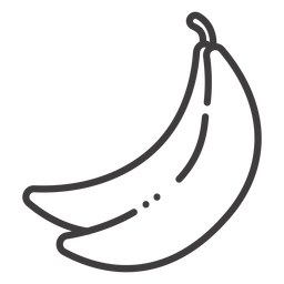 Banana fruit stroke icon
