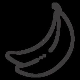 Ícone de traço de fruta banana