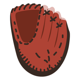 Ícone de beisebol do ícone de luva de beisebol