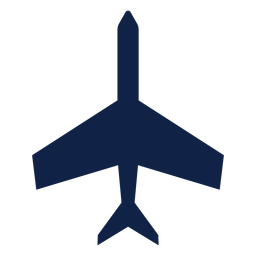 Basic airplane top view silhouette