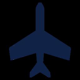 Silhueta de vista superior do avião básico