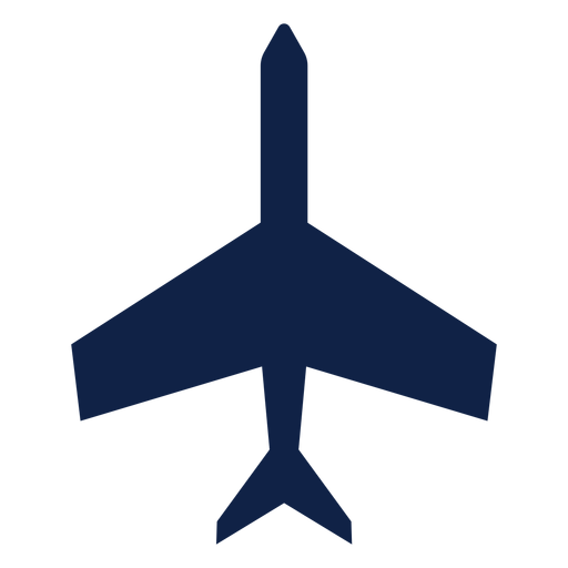 Basic airplane top view silhouette Transparent PNG