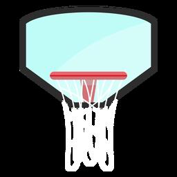 Aro de baloncesto con icono de tablero trasero
