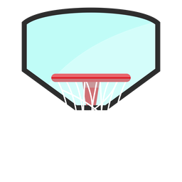 Basketball hoop with backboard icon