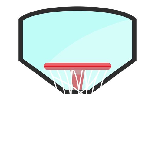 Basketball hoop with backboard icon Transparent PNG