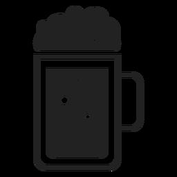 Ícone plana de caneca de cerveja