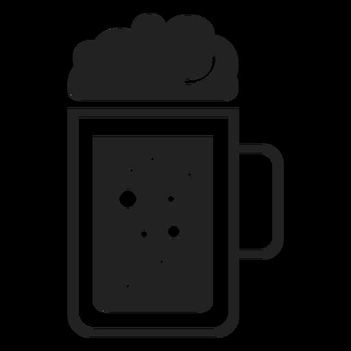 Beer mug flat icon Transparent PNG