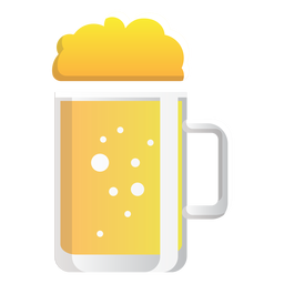 Beer mug glass icon