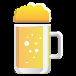 Ícone de vidro caneca de cerveja