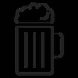 Icono de jarra de cerveza icono de bebida