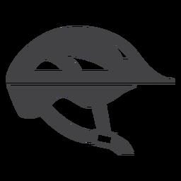 Icono de casco de bicicleta plana