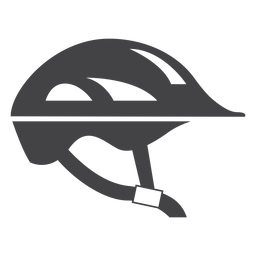 Icono plano de casco de bicicleta