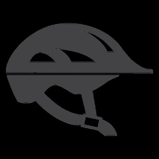 Ícone plana de capacete de bicicleta Transparent PNG
