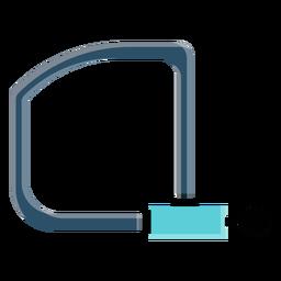 Fahrradschloss-Symbol
