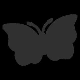 Silueta de vuelo de mariposa grande