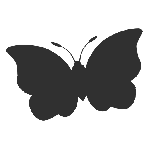 Big butterfly flying silhouette Transparent PNG