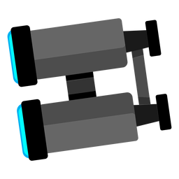 Íconos de binoculares iconos de viaje