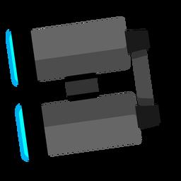 Iconos de viaje de icono de binoculares