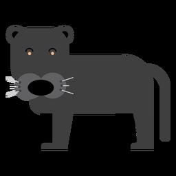 Ilustração de puma preto