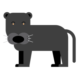 Schwarze Puma-Illustration